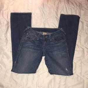 True Religion Light Wash Denim Jeans Boot Cut 27